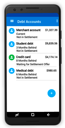 Now you can negotiate and settle those unpaid debts FREE with SettleiTsoft debt settlement App